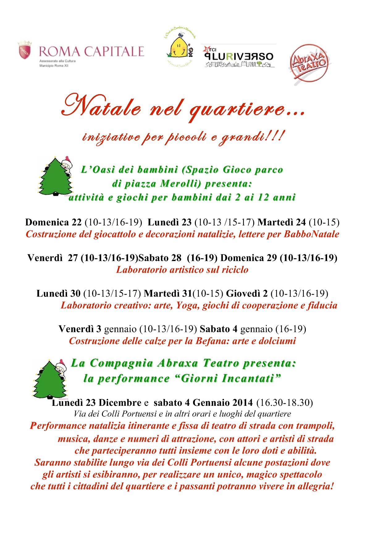 Giorni Incantati - Abraxa Teatro - Natale nel Quartiere