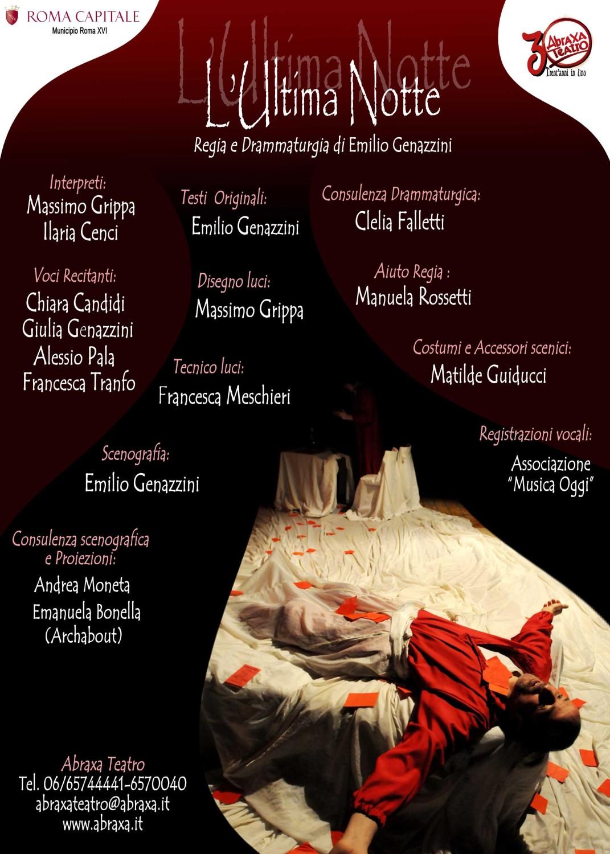 Locandina L'Ultima Notte - Abraxa Teatro