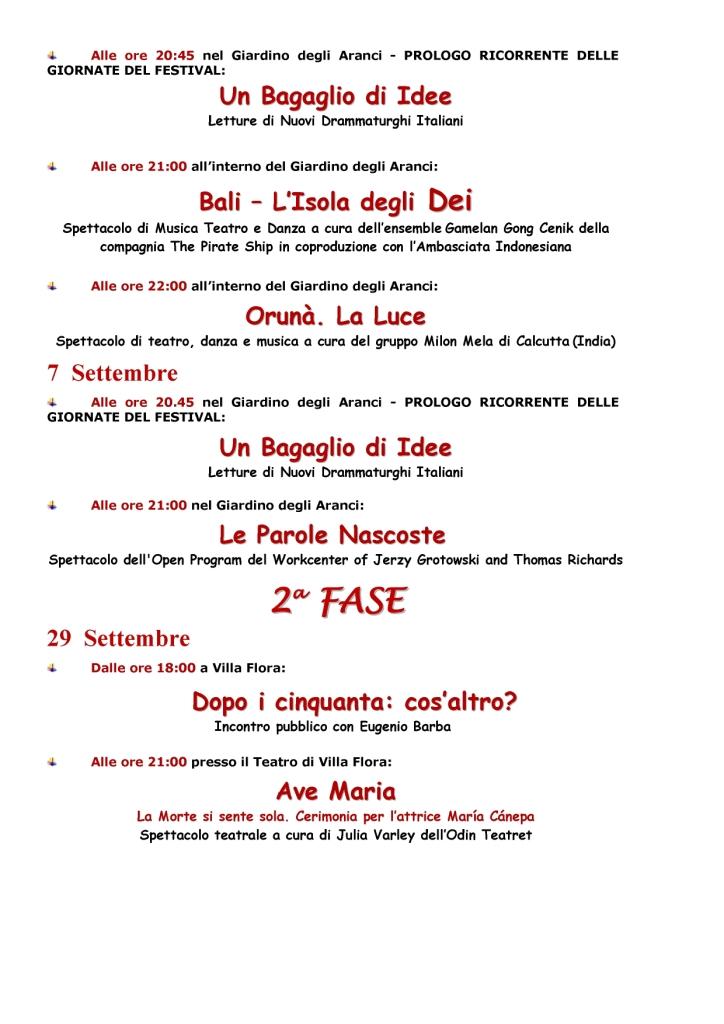 Ventesima edizione del Festival Internazionale del Teatro Urbano
